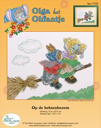 Cross Stitch Kit Op de Heksenbezem - The Stitch Company