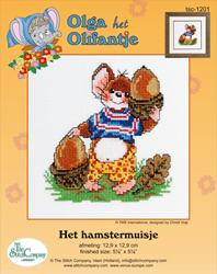 Cross Stitch Kit Het Hamstermuisje - The Stitch Company