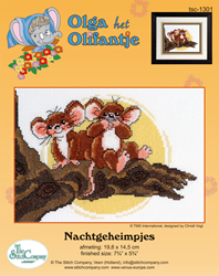 Cross Stitch Kit Nachtgeheimpjes - The Stitch Company