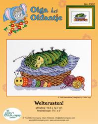 Cross Stitch Kit Welterusten - The Stitch Company