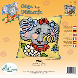 Kussen borduurpakket Olga - The Stitch Company