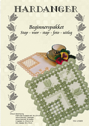 Hardanger Beginnerspakket 1 Green - The Stitch Company