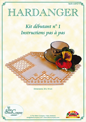 Hardanger Kit débutant 1 Jaune - The Stitch Company