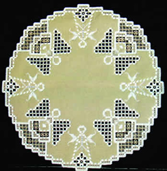 Hardanger Kit Angels Around (Gold) - The Stitch Company