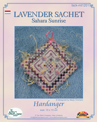 Hardanger Kit Lavender Sachet Sahara Sunrise - The Stitch Company