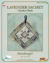 Hardanger Kit Lavender Sachet Garden Path - The Stitch Company