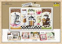 Cross Stitch Kit Coffee Break - The Stitch Company