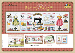 Cross Stitch Kit Sewing Room - The Stitch Company