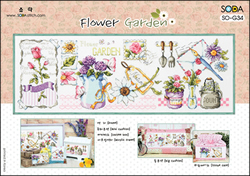 Cross Stitch Kit Flower Garden - The Stitch Company