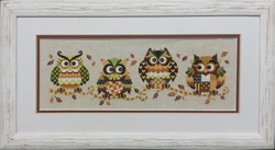 Cross Stitch Kit The Owl Family - The Stitch Company
