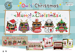 Cross Stitch Kit Owls' Christmas - The Stitch Company