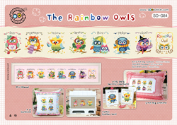 Cross stitch kit The Rainbow Owls - The Stitch Company