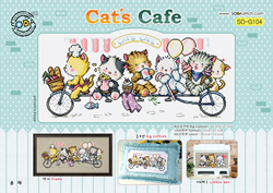 Cross Stitch Chart Cat's Cafe - The Stitch Company