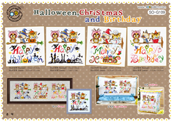 Cross stitch kit Halloween, Christmas & Birthday - The Stitch Company
