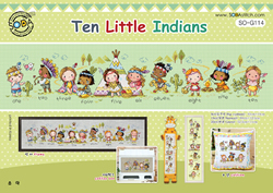 Cross stitch kit Ten Little Indians - The Stitch Company