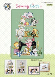 Cross stitch kit Sewing Cats - The Stitch Company