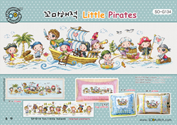 Cross stitch kit Little Pirates - The Stitch Company