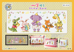 Cross stitch kit Animal Band - The Stitch Company