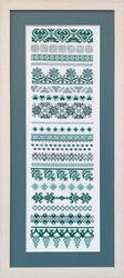 Cross Stitch Chart A Band of Hearts Sampler   - The Stitch Company
