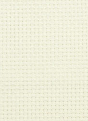 Fabric Aida 14 count White 50x75 cm - Ubelhör