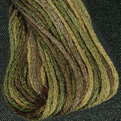 Streng 6-draads Olive Green - Valdani