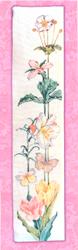 Cross Stitch Chart Floral Bell Pull - Vermillion Stitchery