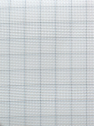 Fabric Easy Count Aida 14 ct, White 50x55 cm - Zweigart