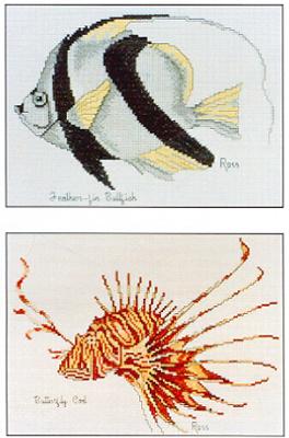 Cross Stitch Chart Feather-fin Bullfinch Butterfly Cod - Ross Originals