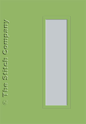 3 Aperture cards with Envelope Olive Green - The Stitch Company
