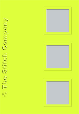 3 Aperture cards with Envelope Lime - The Stitch Company