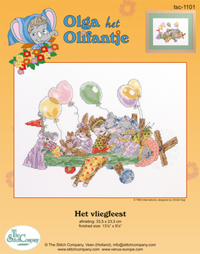 Cross Stitch Kit Het Vliegfeest - The Stitch Company