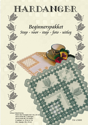 Hardanger Beginnerspakket 1 Blue - The Stitch Company