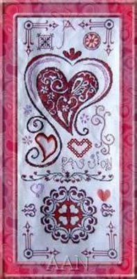 Cross Stitch Chart Rouge Passion - Alessandra Adelaide