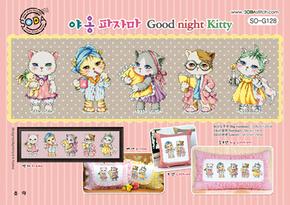 Cross stitch chart Good Night Kitty - Soda Stitch