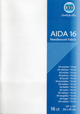 Fabric Aida 16 count - White - RTO