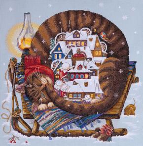 Borduurpakket Cozy Winter - Merejka