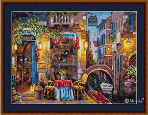 Cross stitch kit Our Special Place in Venice - Merejka