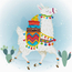 Voorbedrukt borduurpakket Holiday Lama - Needleart World