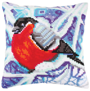 Cushion cross stitch kit Winter Traceries - Collection d'Art